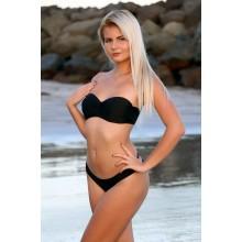 Bänder Bikini schwarz