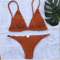 Scrunch Triangel Bikini orange