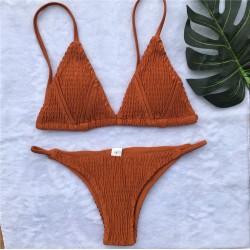 Scrunch Triangel Bikini orange