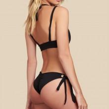 Gebundener Bikini schwarz