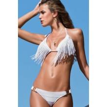 Fransen Bikini weiss