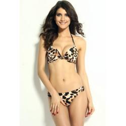 Leopard Bikini braun / schwarz