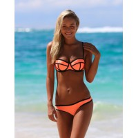 Bikini orange / schwarz