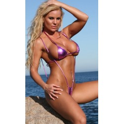 Micro Bikini violett metallic