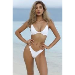 High Cut Brasil Bikini weiss