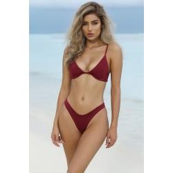 High Cut Brasil Bikini weinrot