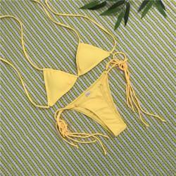 Brasil Triangle Bikini gelb