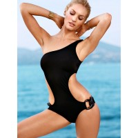 One shoulder Monokini schwarz